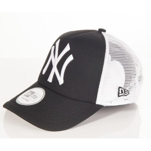 Šiltovka New Era Trucker New York Yenkees Black White