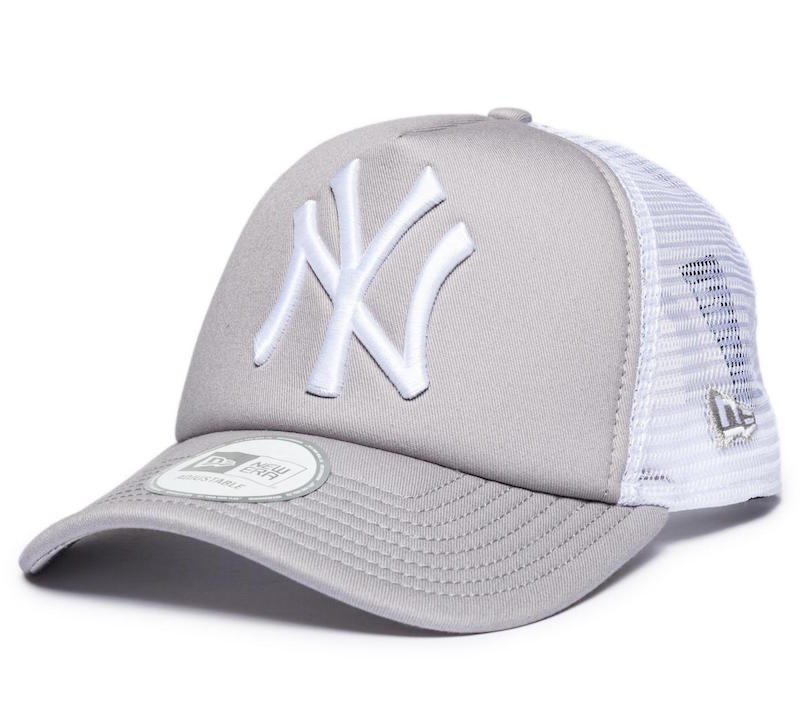 Šiltovka New Era Trucker New York Yenkees Gray White